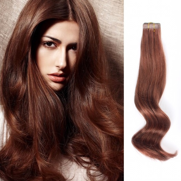 Amazing Beauty Accessories Two Packs Tapein Hair Extensions Auburn